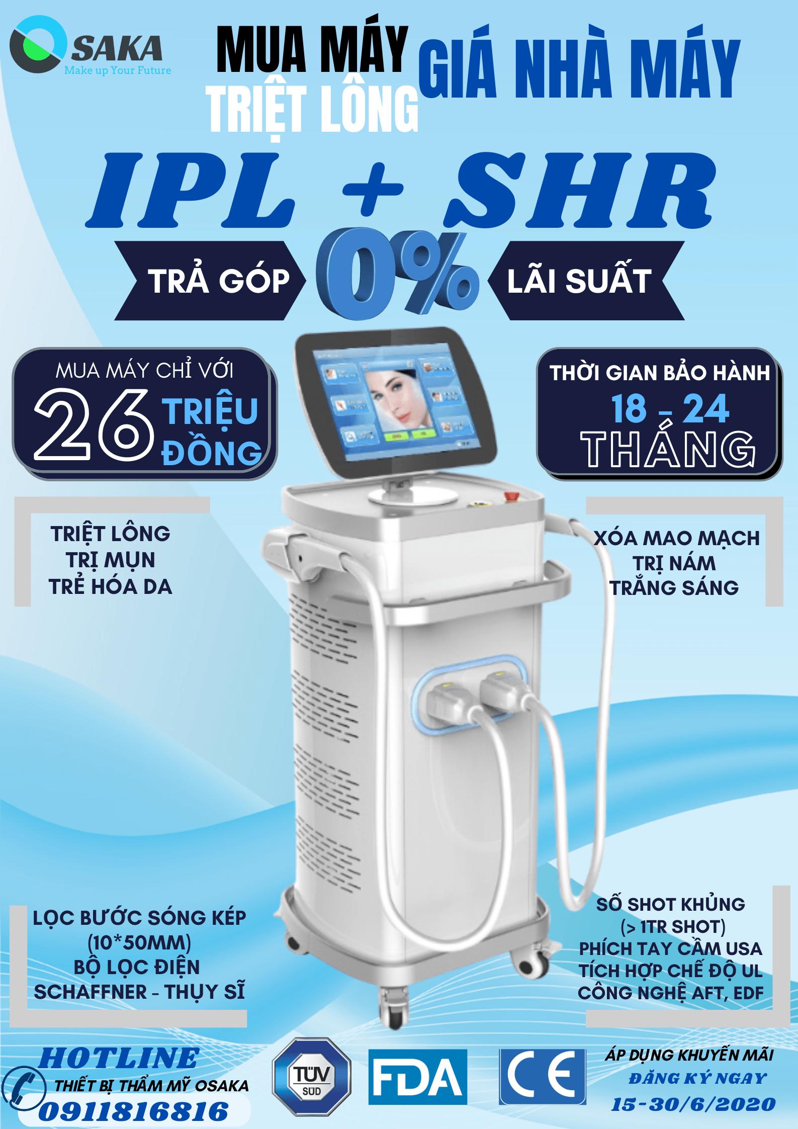 Tại sao nên chọn mua máy triệt lông IPL SHR tại OSAKA