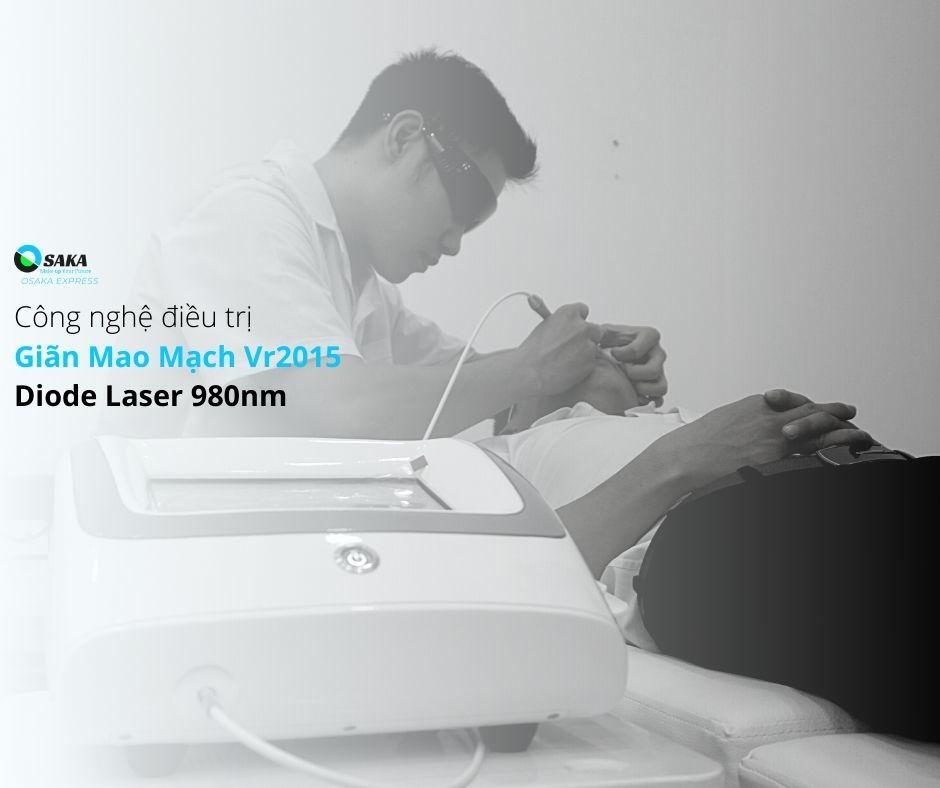 Công nghệ xóa mao mạch Diode Laser 980nm VR2015