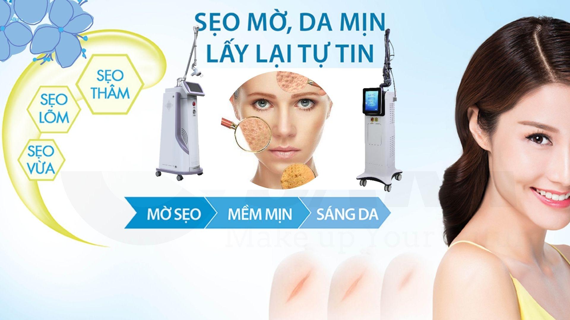 Ứng dụng máy trị sẹo