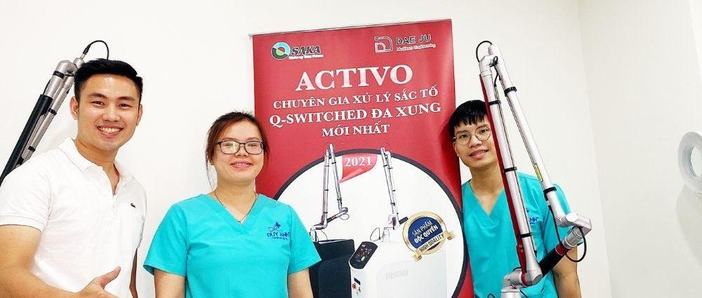 Bàn giao máy Activo cho Bác sĩ Duy Anh