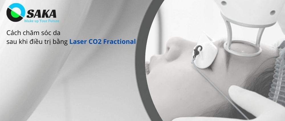 Chăm sóc da sau điều trị Laser CO2 Fractional
