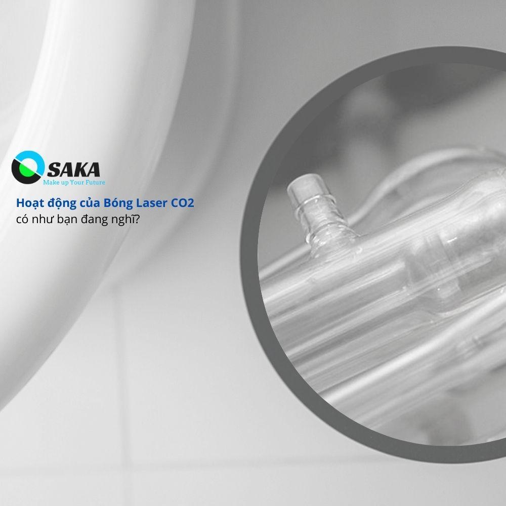 Hoạt động bóng đèn Laser CO2