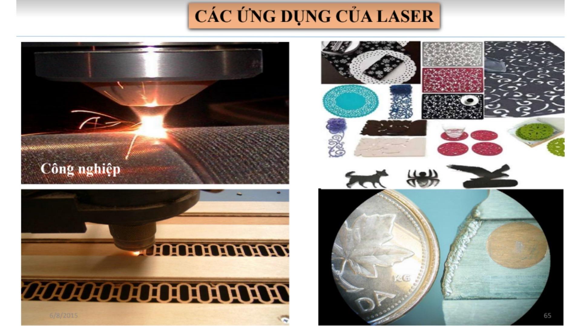 Các ứng dụng của laser